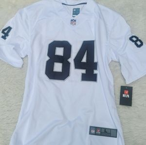NWT-NFL BROWN 84 WHITE JERSEY